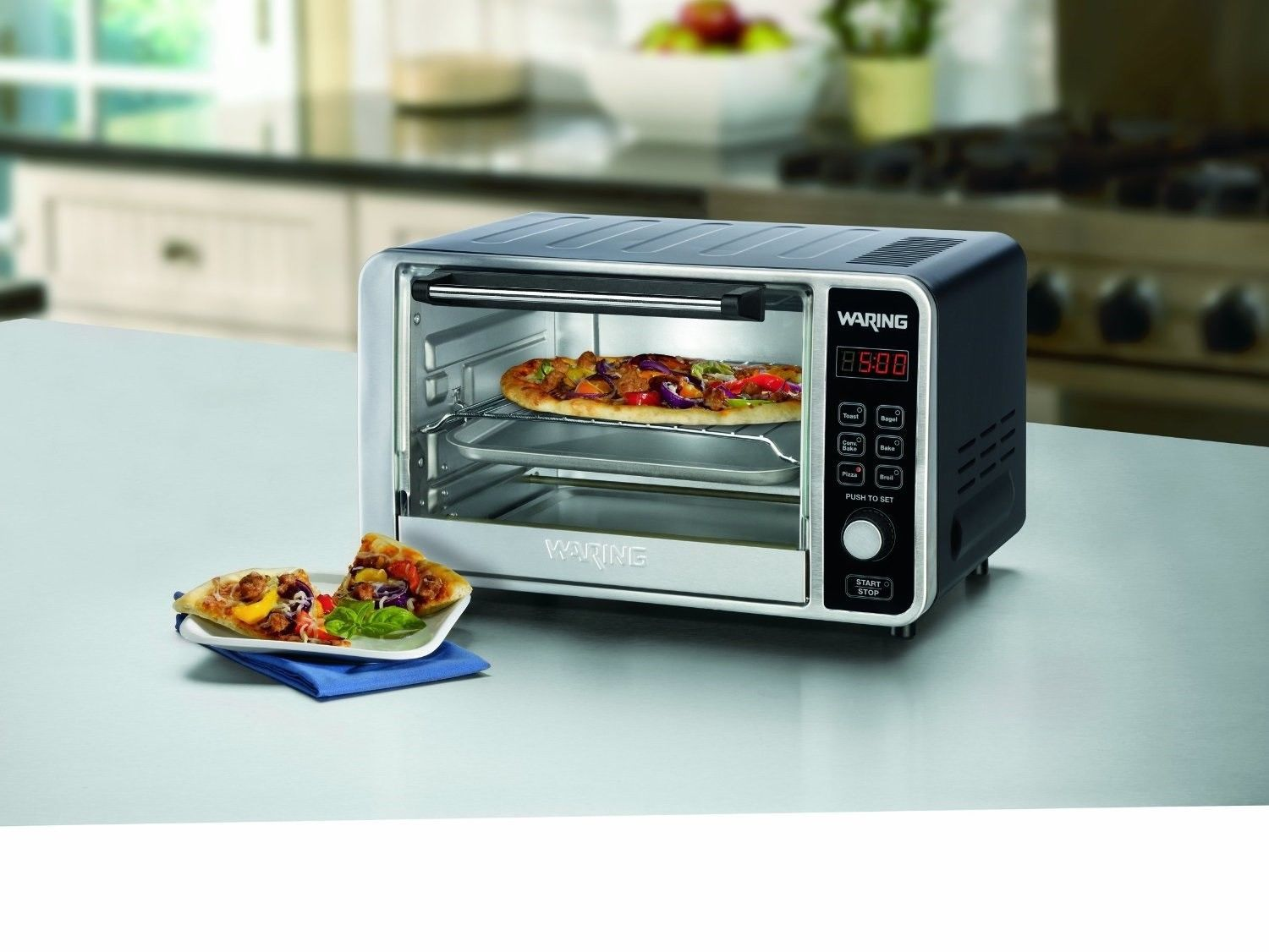 Waring Pro Digital Convection Oven, Toaster , Broil, Bake - Infrared ...