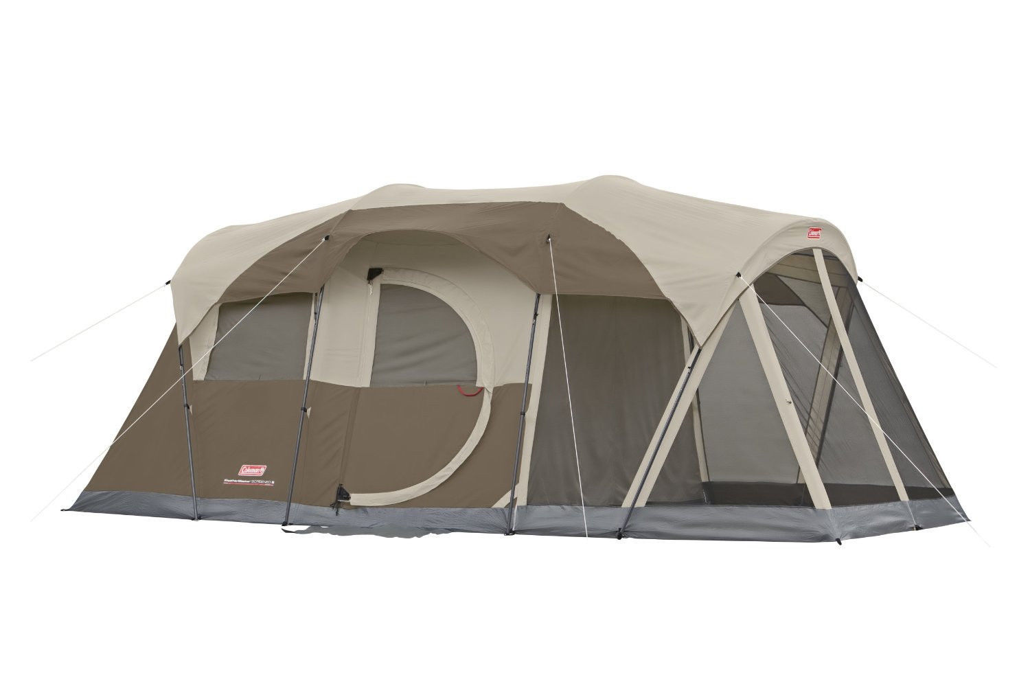 Tent coleman weathermaster screened 6 person camping for Small 3 room tent
