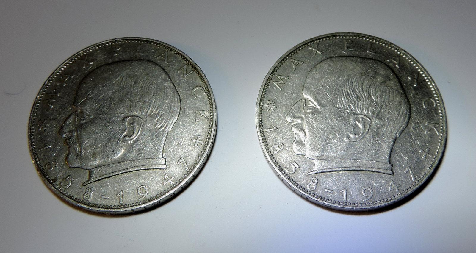 1974 Deutsche Mark 2 1963 1958 2 Deutsche Mark