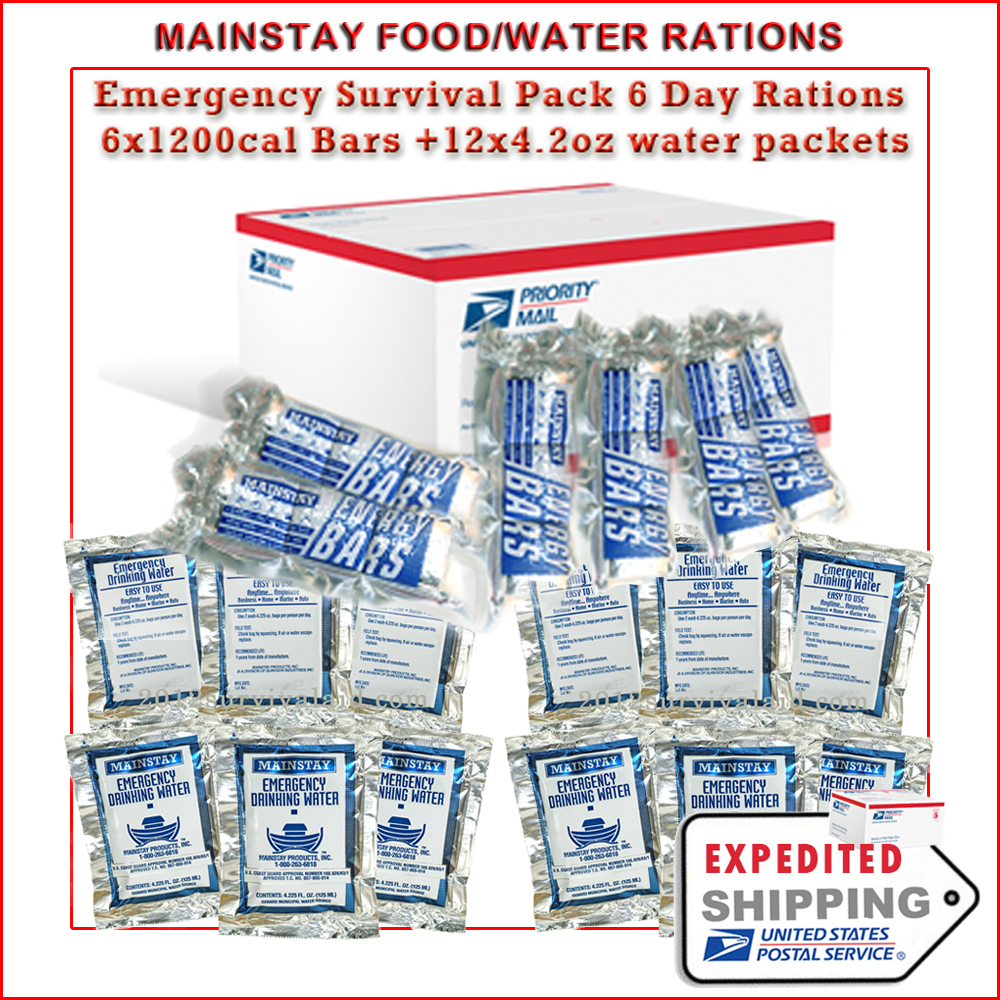 Emergency water rations canada
