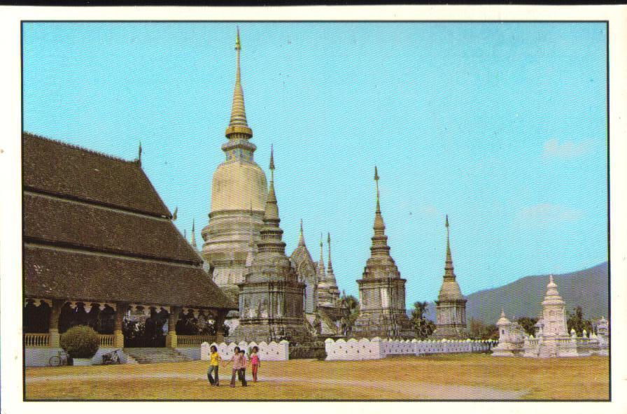 Wad Suan Dok Cheng Mai Province Thailand Postcard