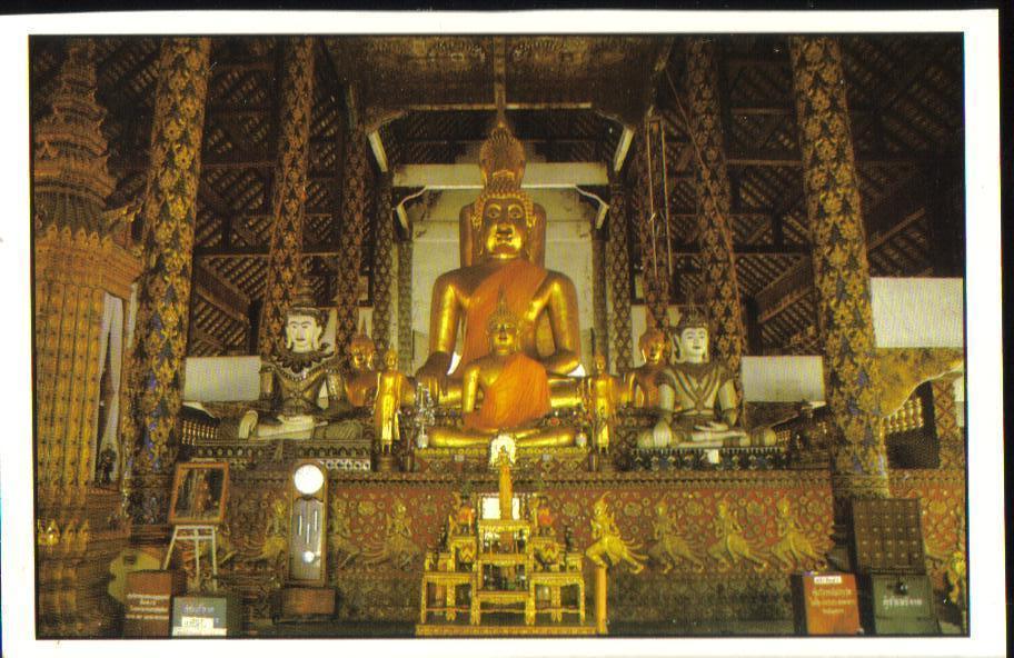 Wad Suan Dok Interior Cheng Mai Province Thailand Postcard