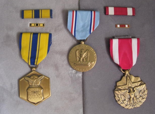 WWII Metals - US MERIT - CONDUCT & MERITORIOUS SERVICE METALS 3 PC LOT