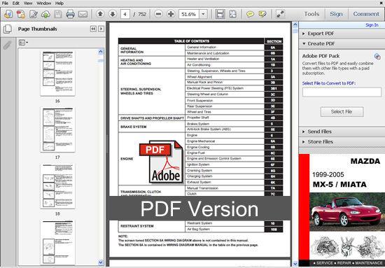 mazda mx5 mx 5 miata 1999 2000 2001 2002 2003 2004 2005 service repair manual mazda Mazda Miata Owner's Manual Mazda Miata Manual Transmission