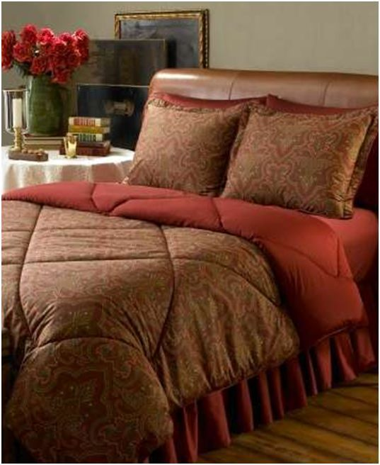 New Ralph Lauren Abenhall Paisley King Comforter Set 4 P