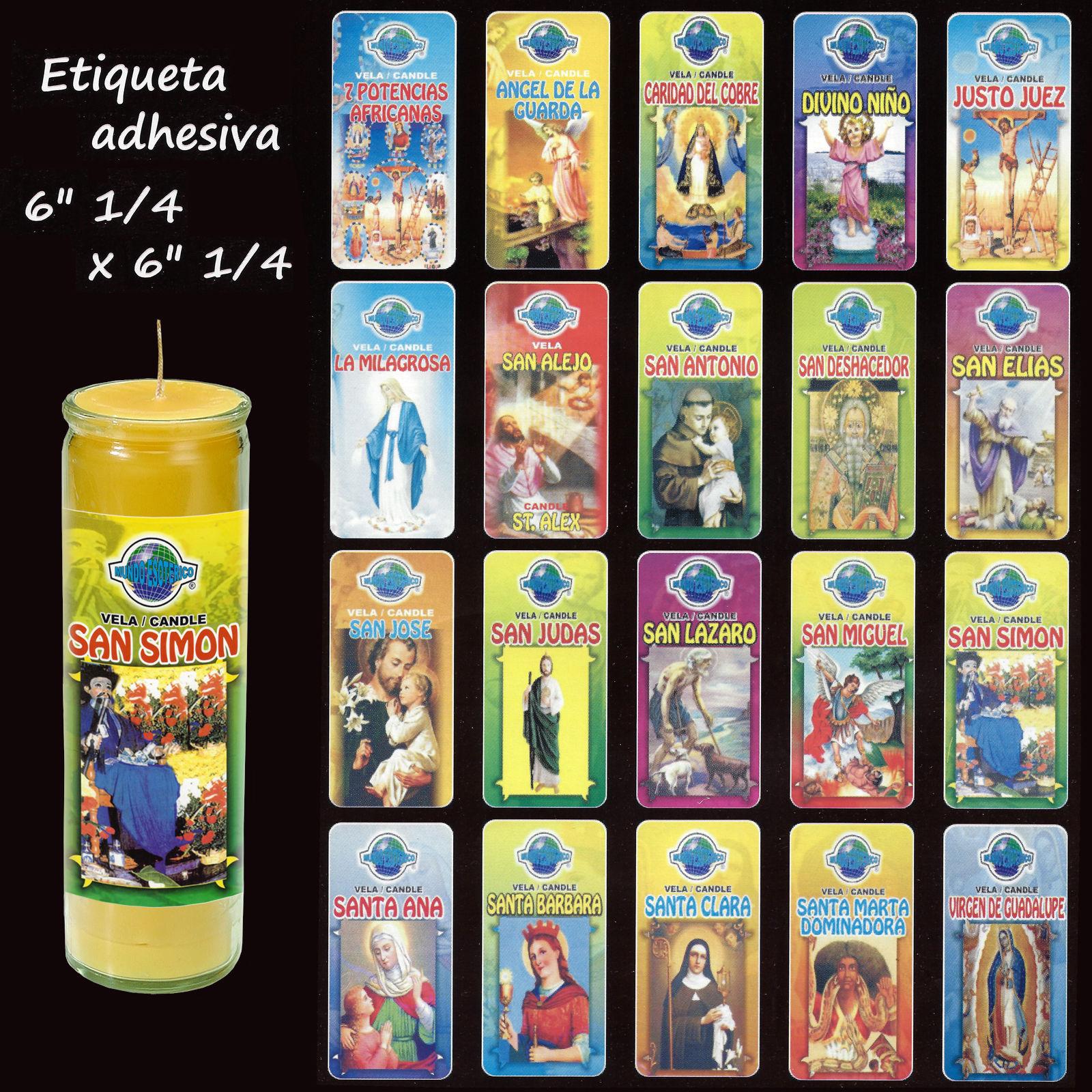 100 etiquetas de velas santos angeles para velas 7 dias - Etiquetas para velas ...
