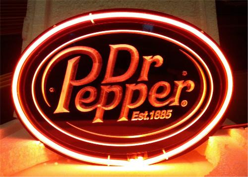 Dr Pepper Lamp : Dr pepper d acrylic beer bar neon light sign