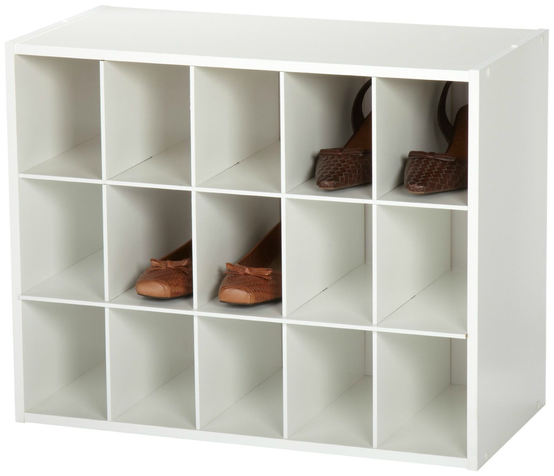 Shoe Organizer Rack Closet Space Rubbermaid Shed Closetmaid Shelves Wall Storage Shoe Organizers