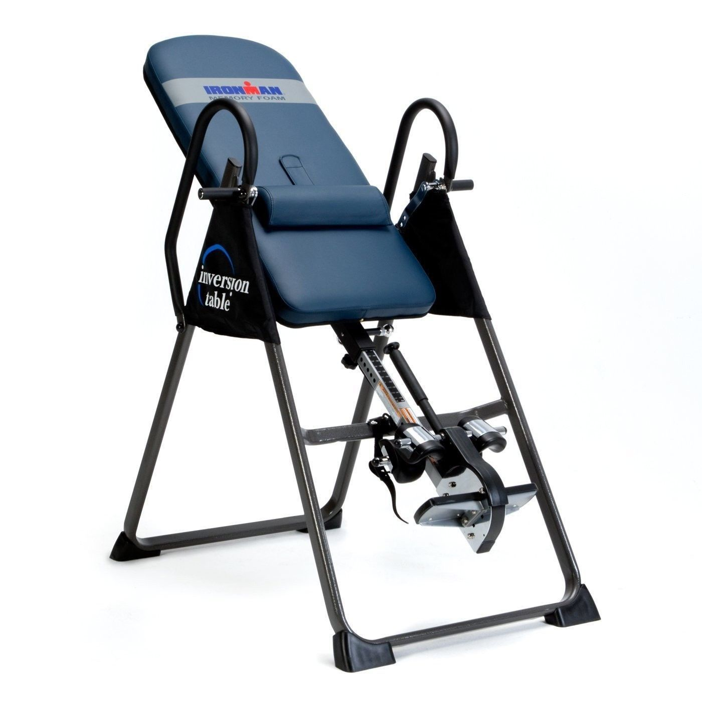 Wide gravity traction inversion table back pain relief for Table inversion