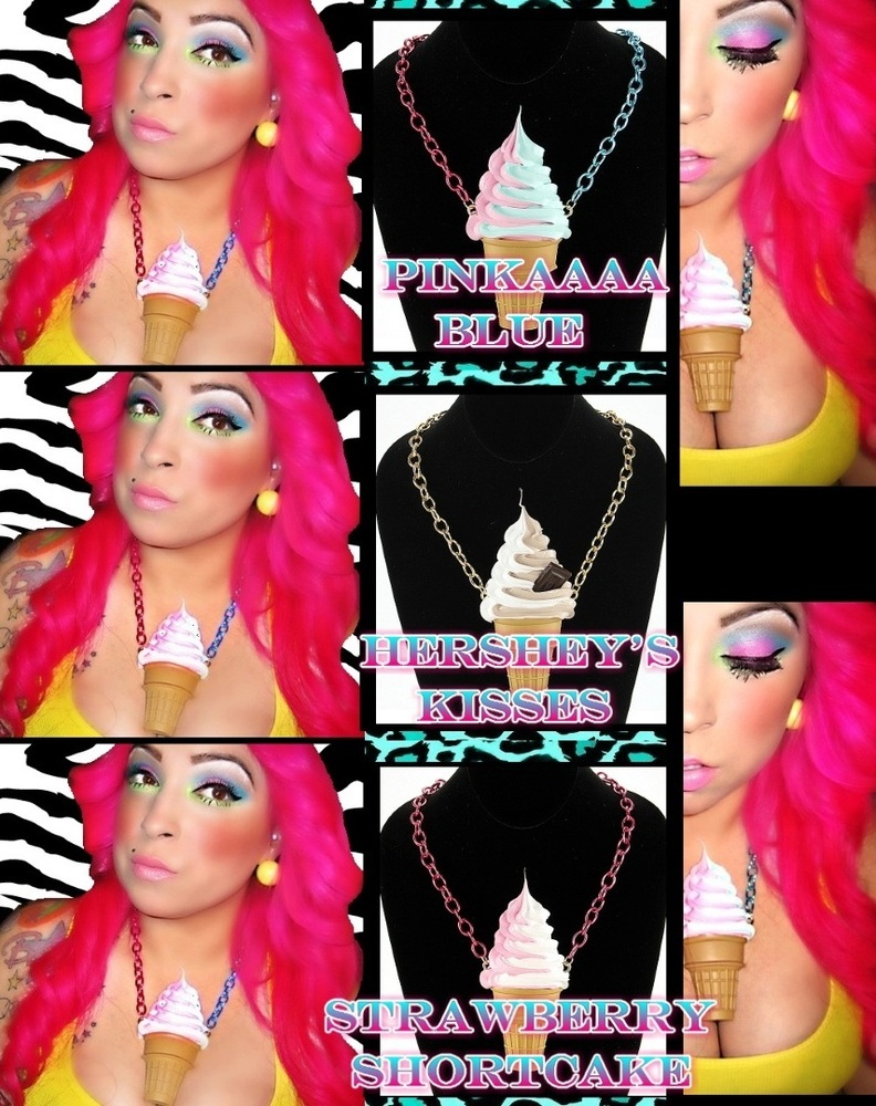 Whatever the reasoning was, I did zero in on one thing: her ice cream cone necklace, which came from Royal/T in Culver City. The Japanese tea house/gallery/retail store is hosting a pop-up shop of ice cream cone necklaces like Minaj's, and other jewelry from Onch Movement through Sept. 8.