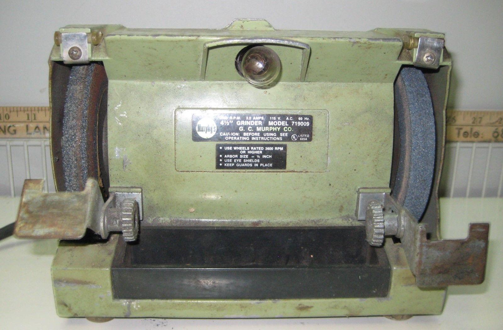 G C Murphy 4 1 2 Bench Grinder Works Vintage Cute Small Space Grinder Blacksmithing