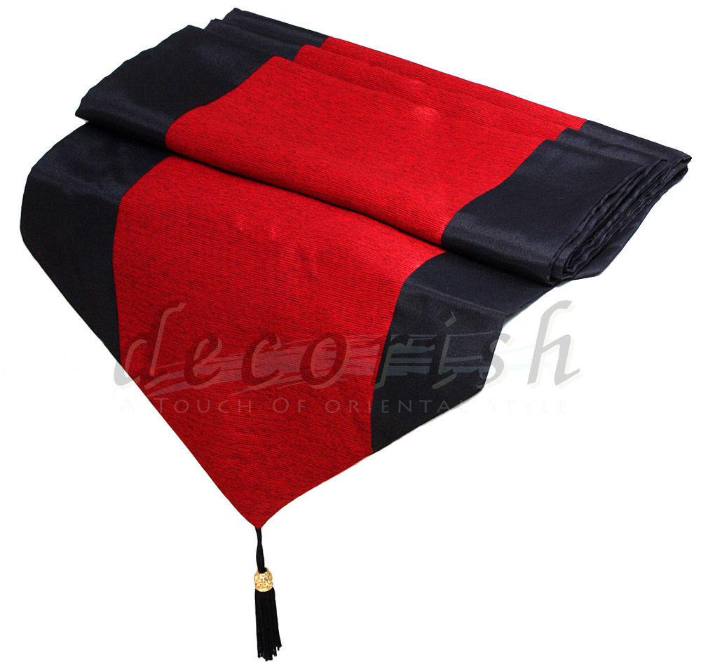 BLACK amp RED STRIPE THAI SILK DECORATIVE RECTANGLE BED  : t2ec16nzqe9s3sryhibqfhu8veg6057 from bonanzamarket.co.uk size 1000 x 947 jpeg 115kB