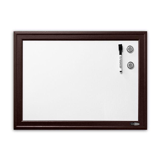 ... Dry-Erase Board, 17 x 23 In, Espresso Wood Frame - Dry Erase Boards