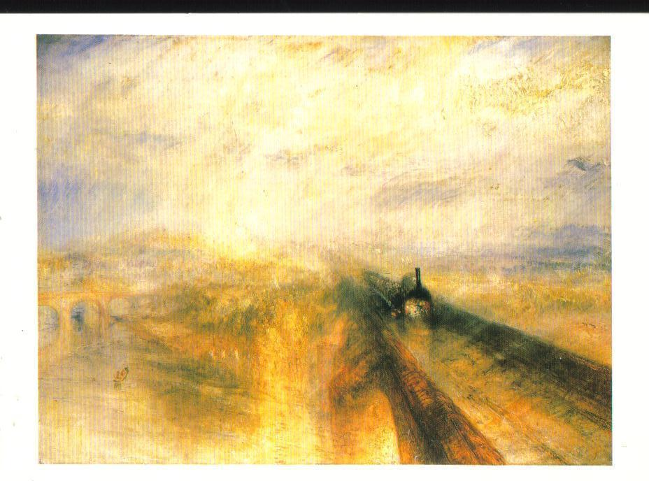 The Great Western Railway Turner Art Print Postcard