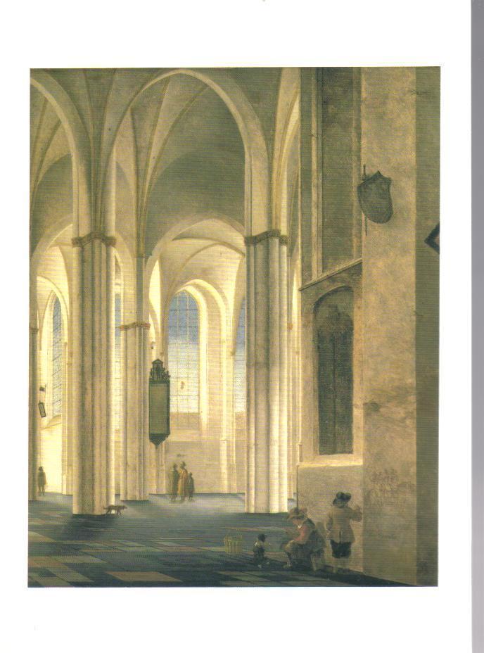 The Buurkerk at Utrecht Art Print Postcard
