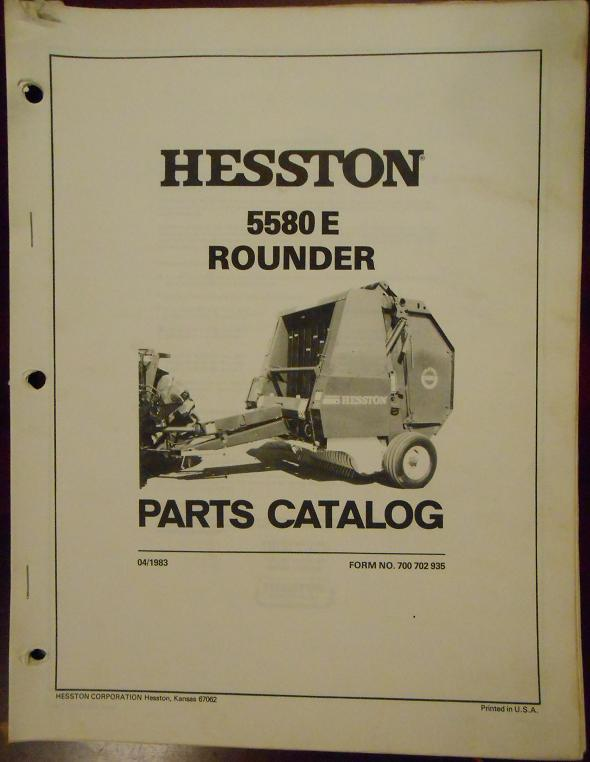 Hesston 4910 Baler Manual