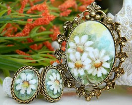 Vintage_daisy_hand_painted_porcelain_brooch_pendant_earrings_thumb200