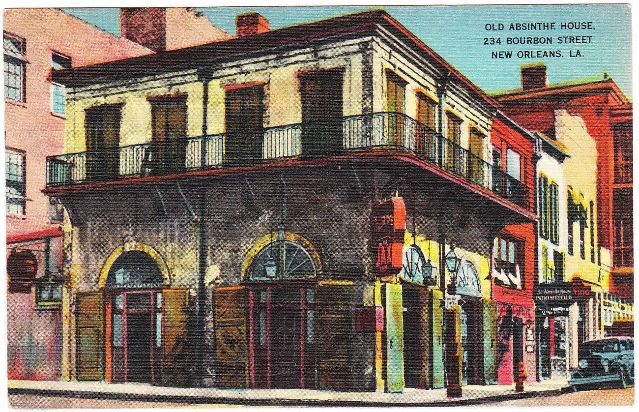 vintage_linen_postcard_Old_Absinthe_House_Bourbon_Street_New_Orleans_LA.jpg