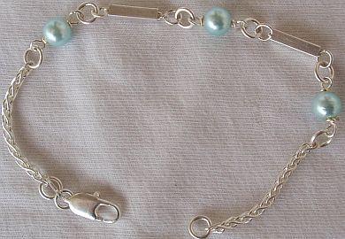Light blue silver bracelet A