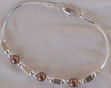 Brown silver bracelet AB