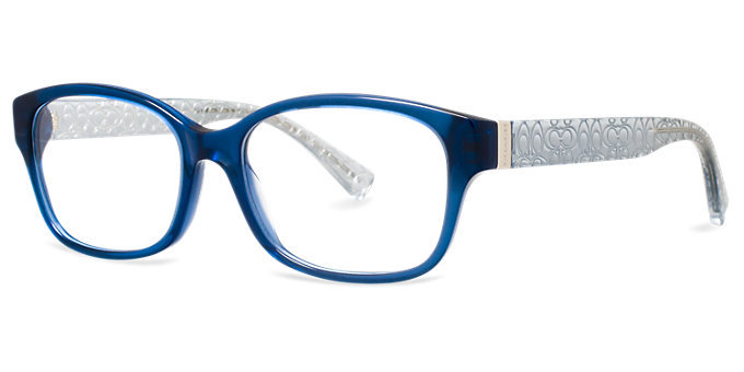 New Authentic Coach HC6049 5153 TIA Blue Eyeglass Frame ...