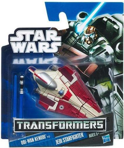 Star Wars Mini Transformers Obi-Wan Kenobi to Jedi Starfighter