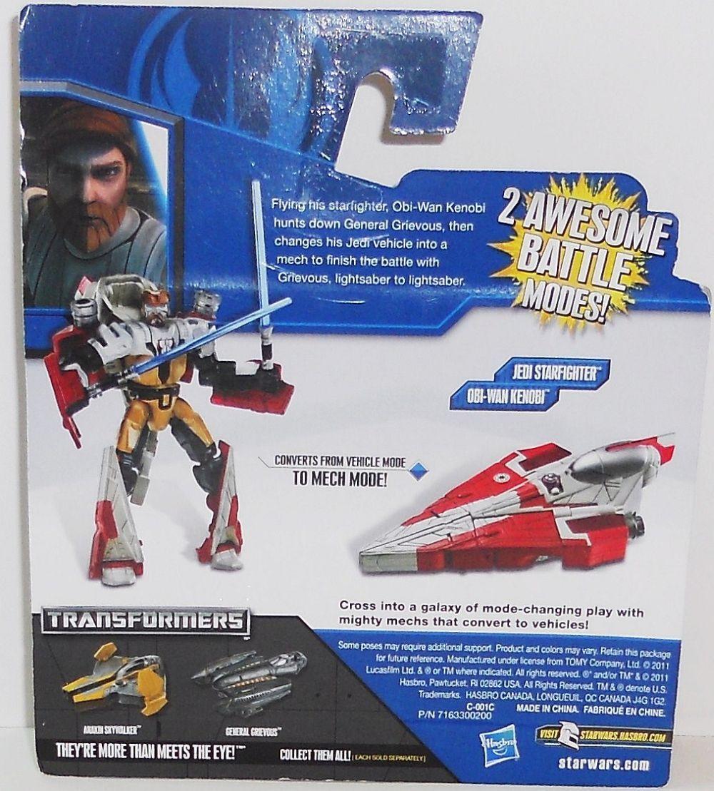Image 1 of Star Wars Transformers Obi-Wan Kenobi to Jedi Starfighter