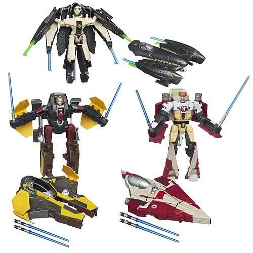 Image 2 of Star Wars Transformers Obi-Wan Kenobi to Jedi Starfighter