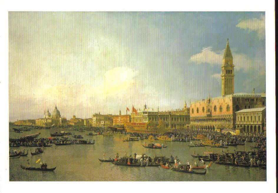 The Basin of San Marco on Ascension Day Art Print Postcard