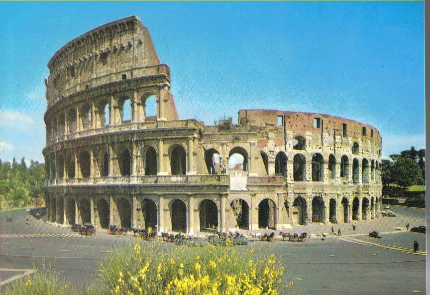 The Colosseum - Rome, Italy Postcard
