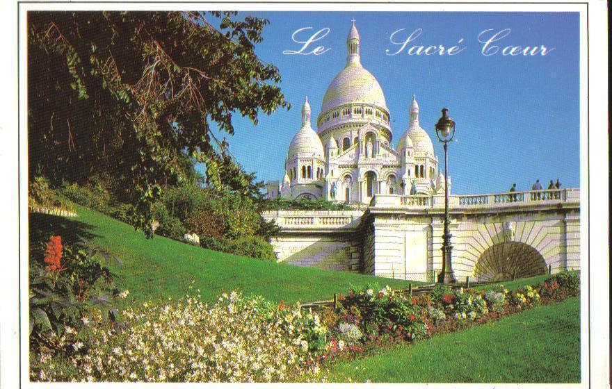 The Sacre-Coeur, Paris, France Postcard