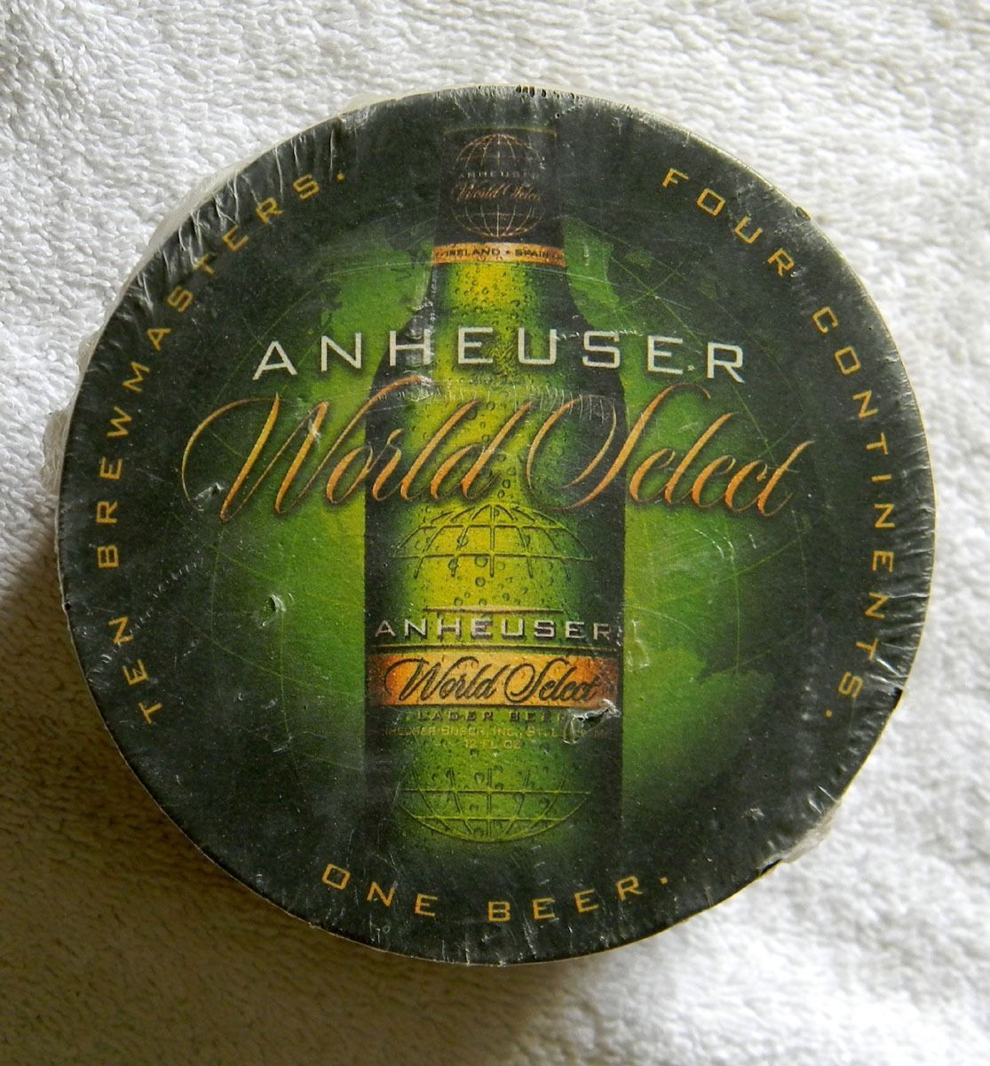 50 new cardboard anheuser world select beer coasters double sided retired coasters - Cardboard beer coasters ...