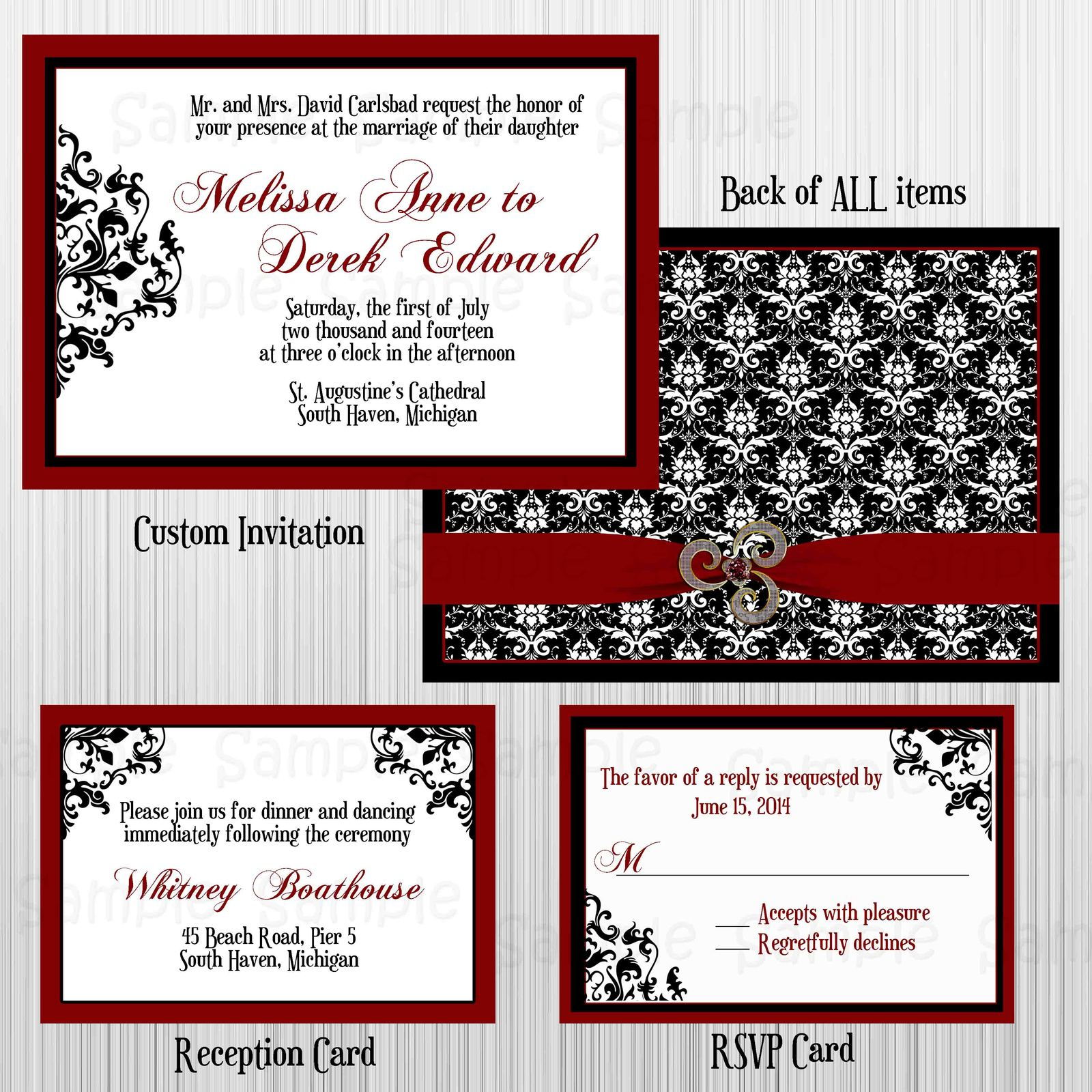 wedding invitation and rsvp card sets - 28 images - pink and grey ...