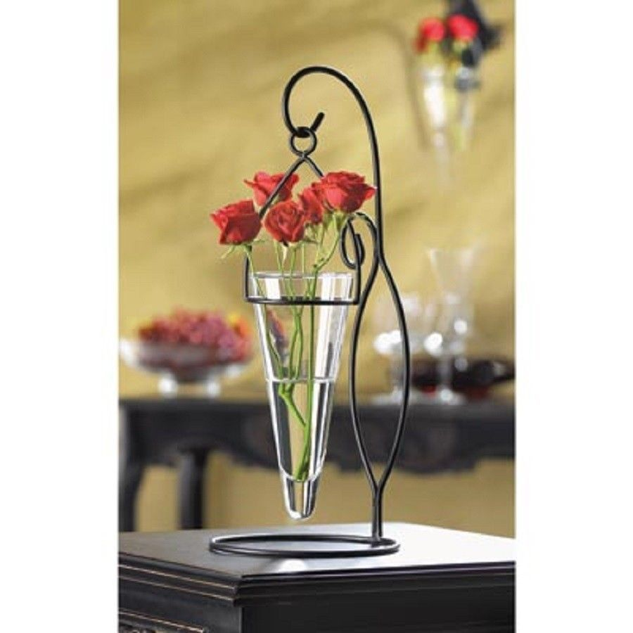 Black candelabra flower votive candle holder wedding