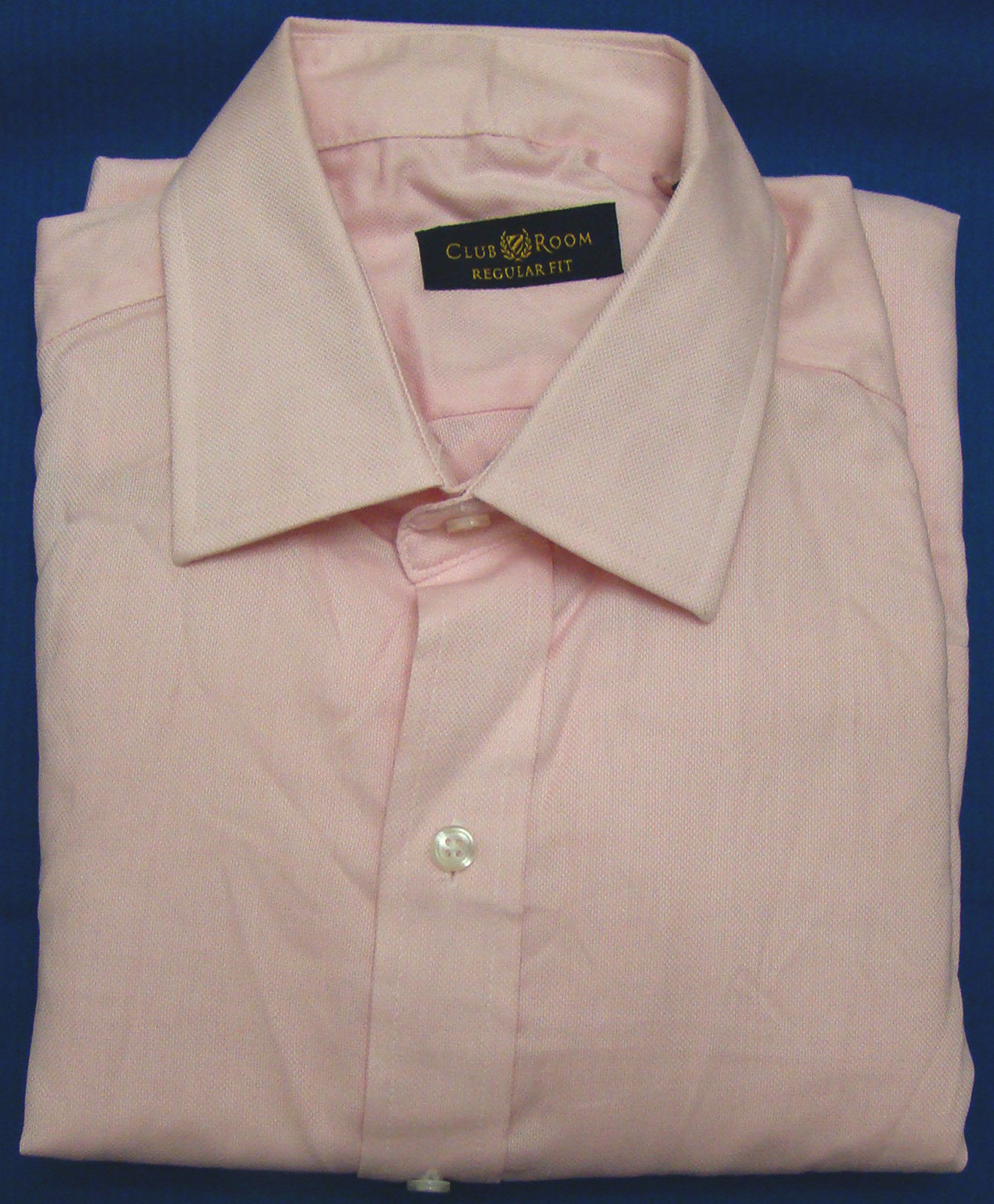 Club room pink checked regular fit long sleeve dress shirt for Size 15 dress shirt