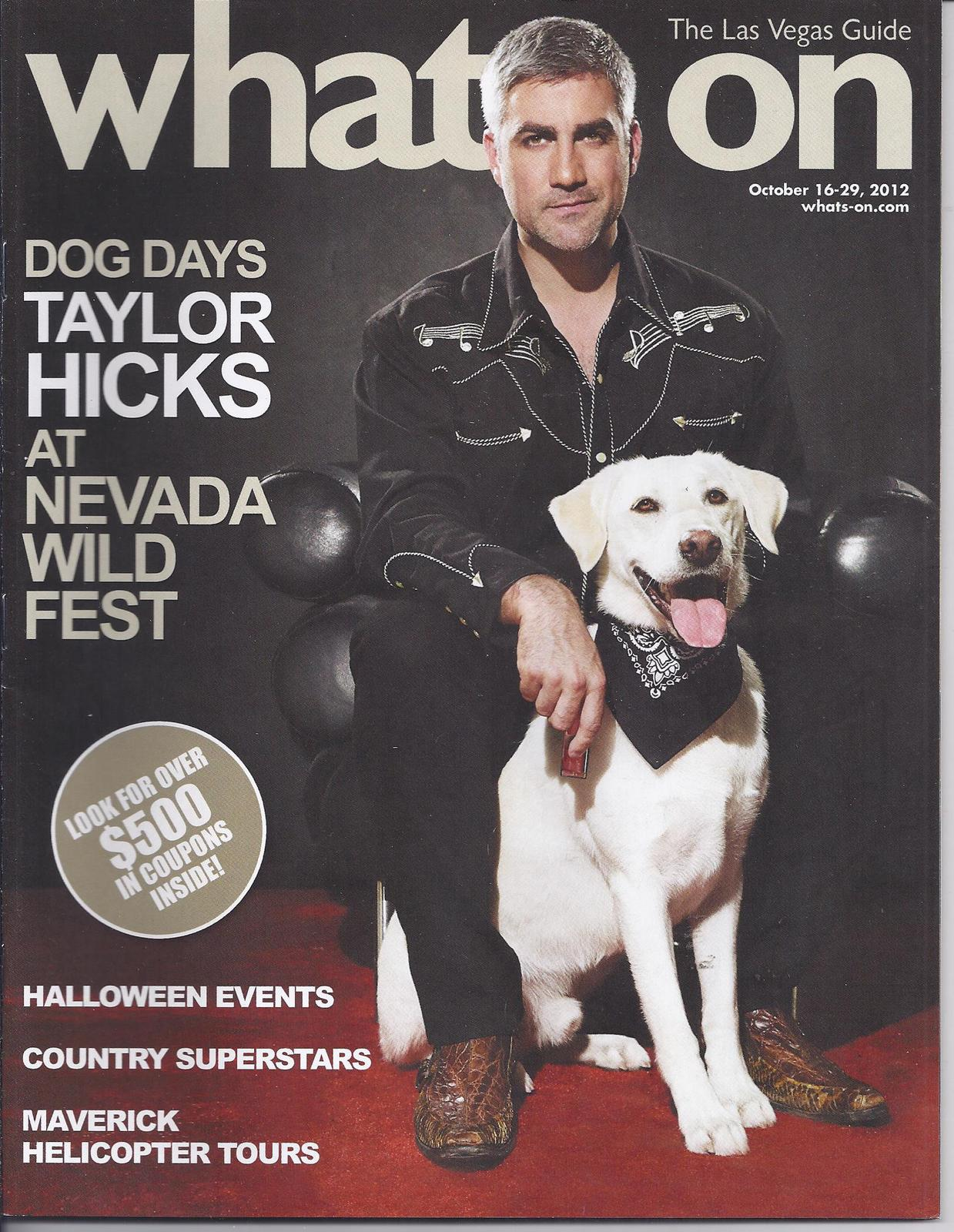 Dog days taylor hicks whats on las vegas magazine oct for Dog days las vegas