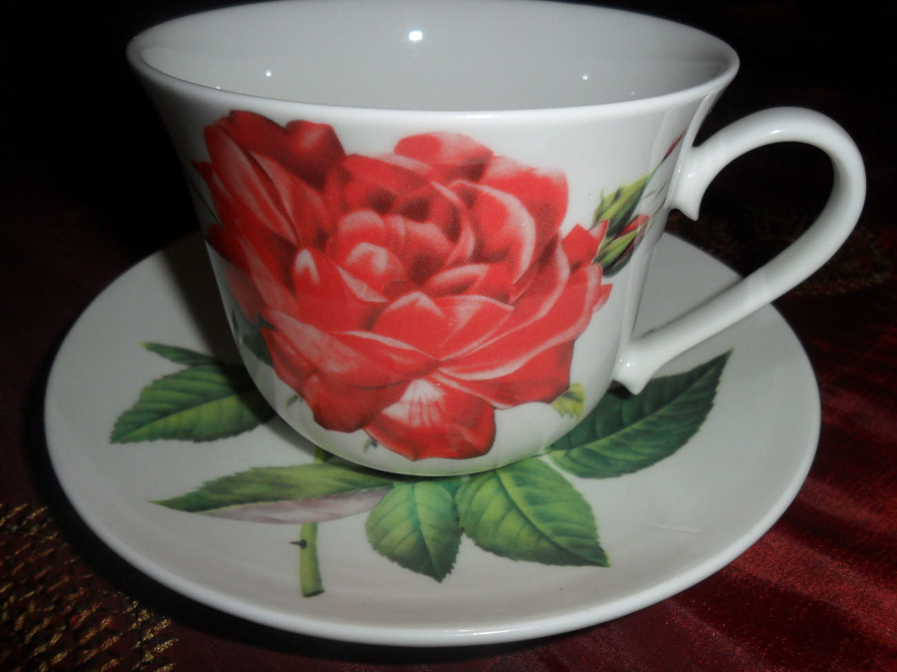 Tea Cup and Saucer of Fine Bone China Made in England