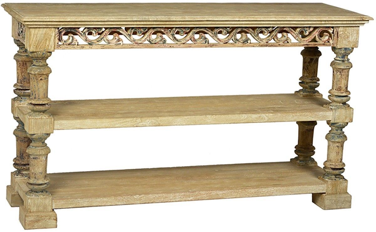 Stunning vintage style carved wood console table 60 39 39 wide for 24 wide console table