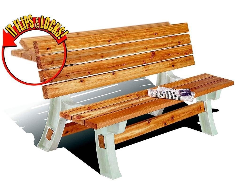 Flip Top Bench Picnic Table Outdoor Patio and 50 similar items