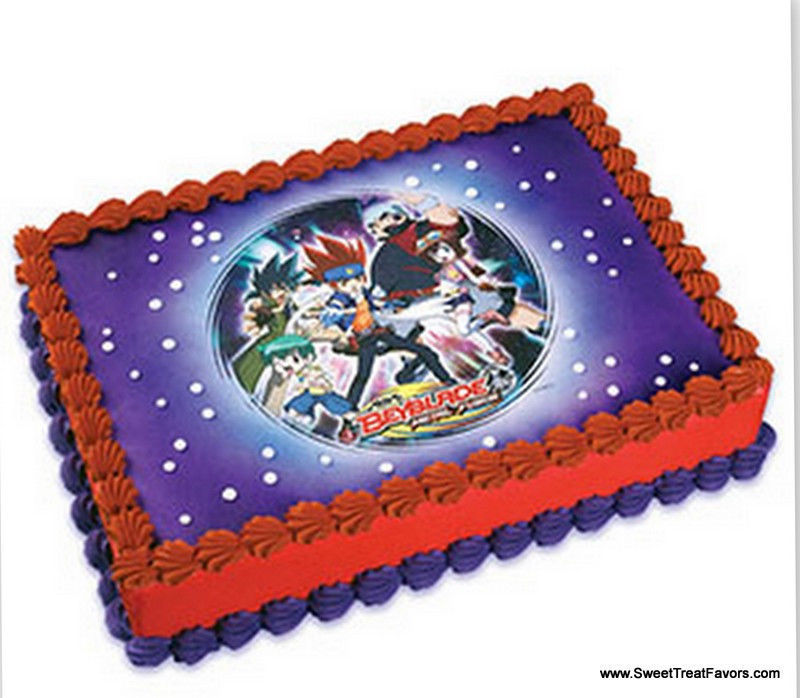 BEYBLADE Cake Decoration Party Image EDIBLE Topper Kit ...