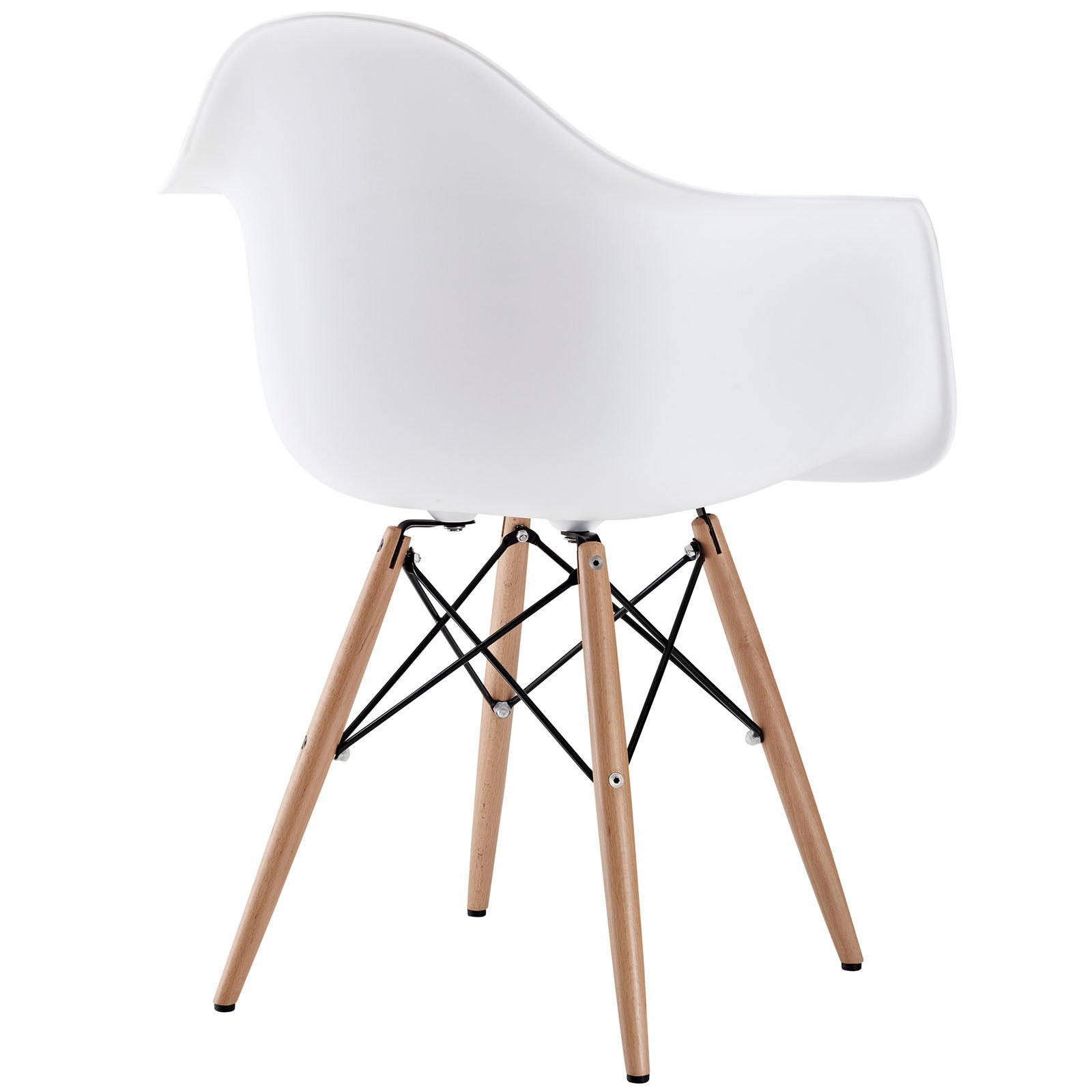 Superb img of  Eames DAW Style White Arm Chair Accent Dining Wood Eiffel Other with #875F44 color and 1600x1600 pixels