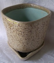 Glidden_art_pottery_planter_brown_speckled_truquoise3_thumb200