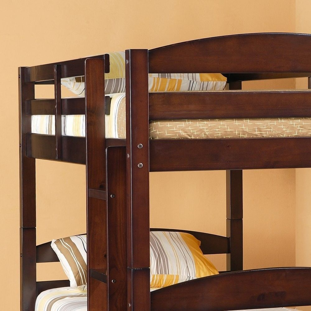 Twin Bunk Bed Espresso Sturdy Solid Wood And 50 Similar Items