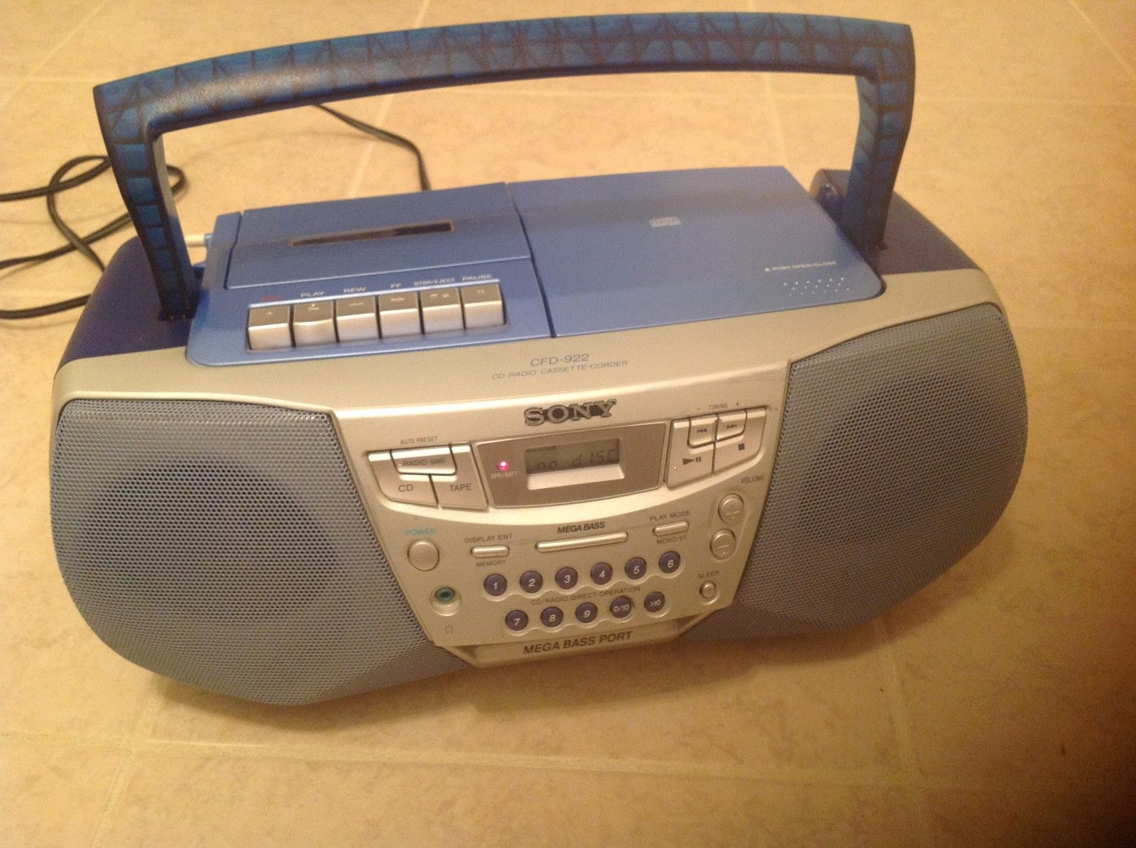 sony cfd 922 cassette cd radio boombox boomboxes. Black Bedroom Furniture Sets. Home Design Ideas