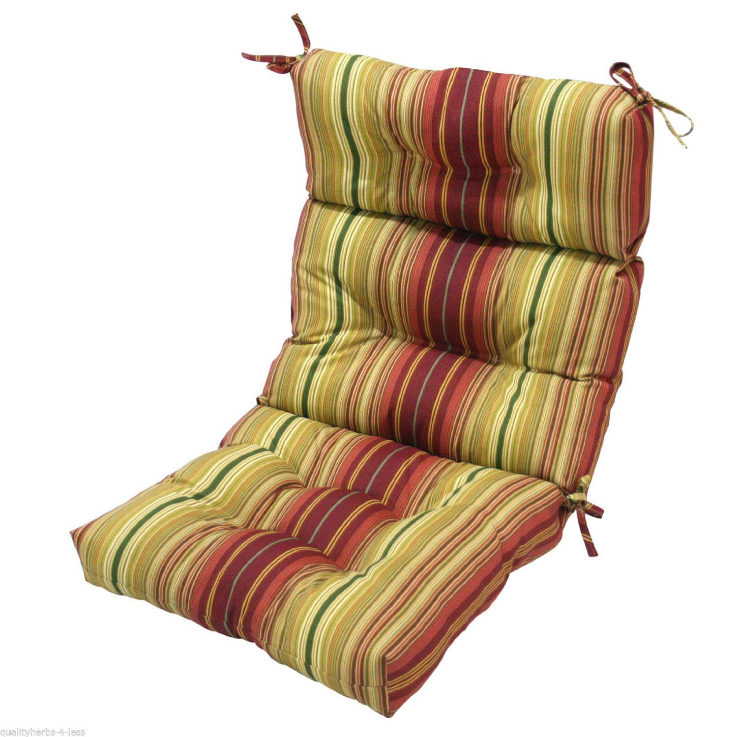 patio chair overstuffed cushion high back indoor outdoor furniture