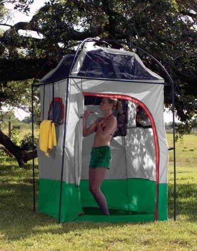 Outdoor camping shower tent private portable shelter for Portable garden room