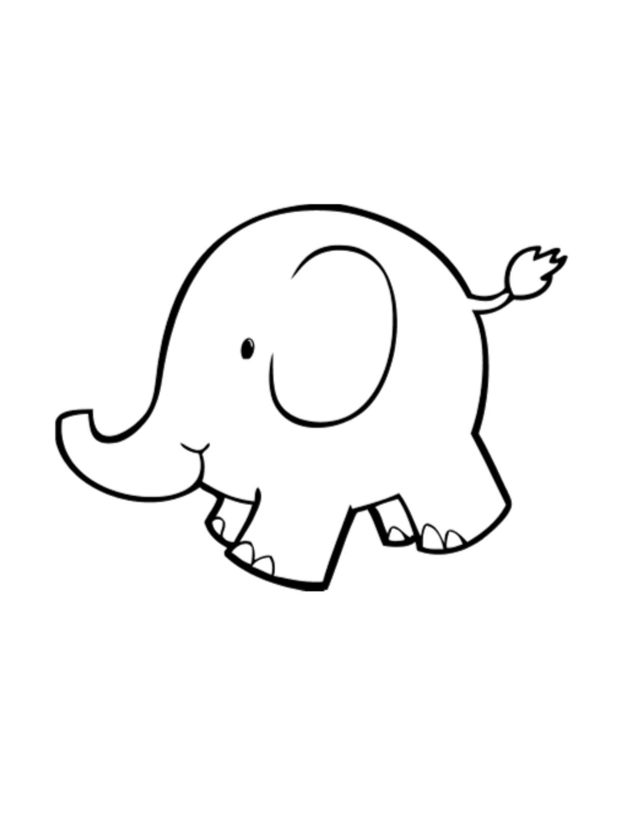 Baby Elephant Outline-Digital Download-ClipArt-Art Clip ...