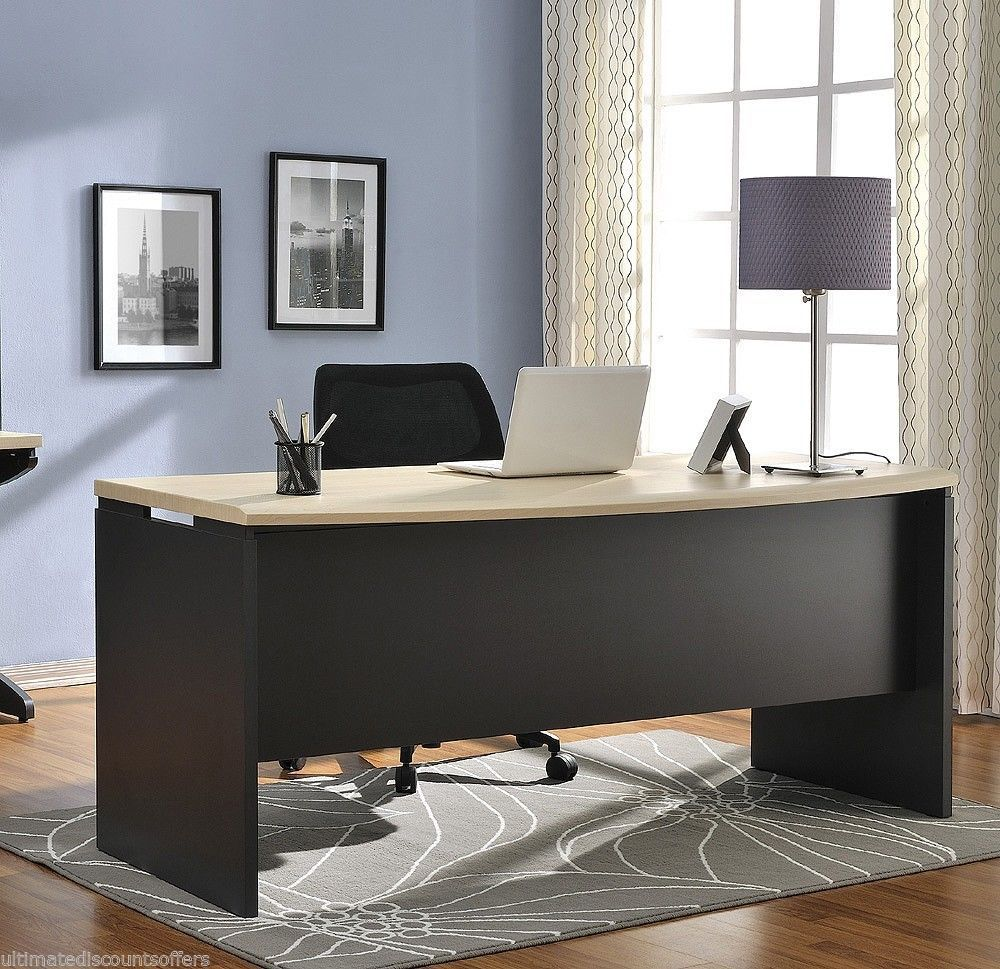 Executive office furniture business modern large wood for Large home office