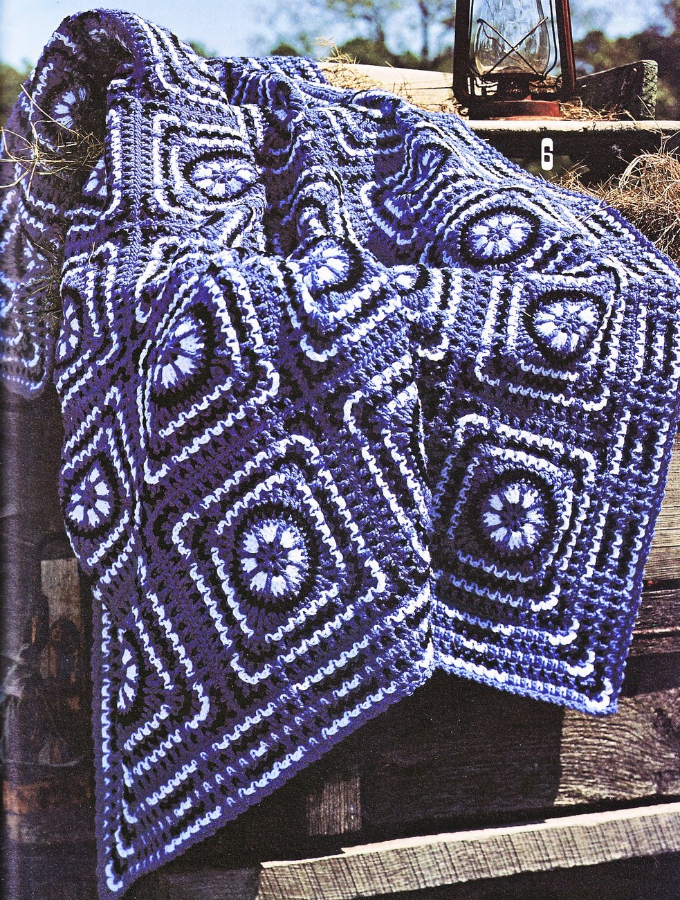 Crochet Pattern Southwestern Afghan : Western Warmth Afghans Crochet Patterns 8 Designs Blankets ...