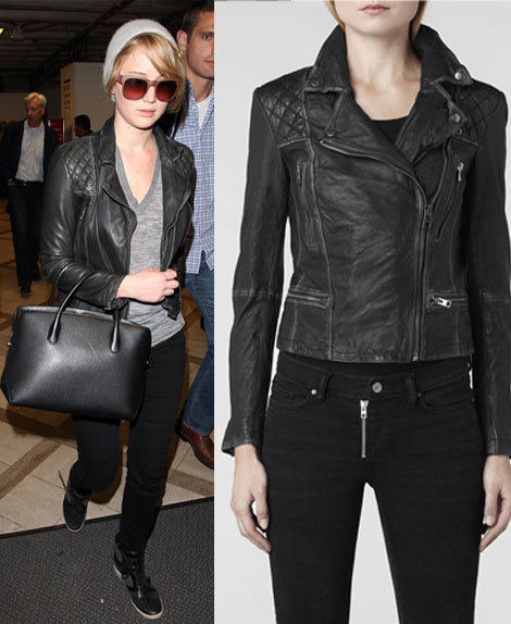 JENNIFER LAWRENCE LEATHER JACKET, BLACK COLOR JACKET ...